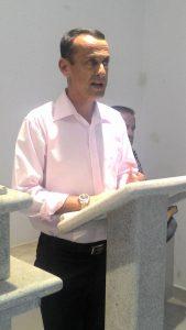 O proprietário Altemar Macedo fez um discurso de agradecimento.