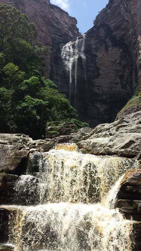 A Cachoeira Encantada, no município de Itaetê | FOTO: Divulgação/Arquivo/PNCD |