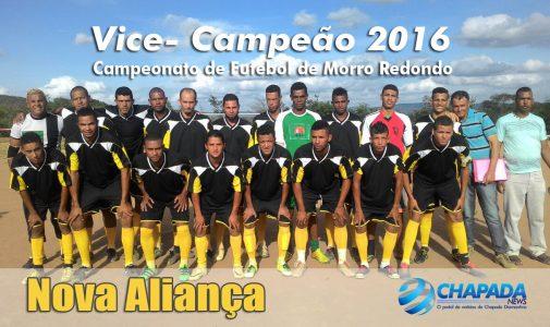 Nova Aliança (Ibitiara) Vice Campeão recebeu R$ 1.000,00