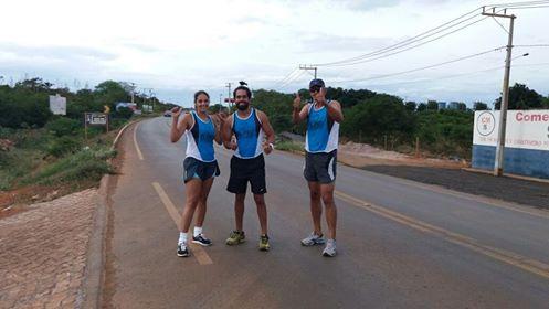 Illane Silva, José Roberto e Paulo Barbosa. Atletas se preparando par aa São Silvestre 2016. FOTO: Divulgação