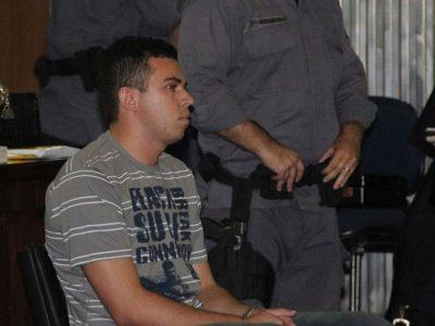 Lindemberg no Fórum de Santo André, no Grande ABC, sentado no banco de réus em 2008. (Foto/Arquivo: Diogo Moreira / Futura Press / Agência Estado)