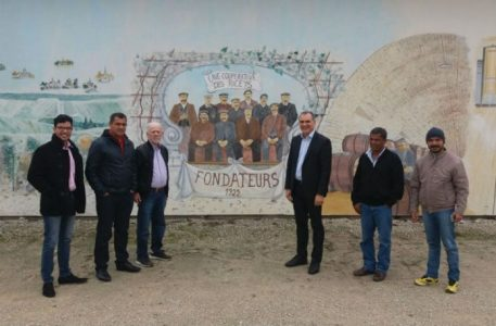 Em março deste ano, foi assinado um novo acordo de cooperação técnica com a Les Riceys (Foto: Divulgação)
