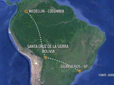 Avião da Chapecoense saiu de São Paulo ontem à noite