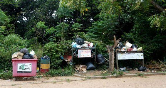 Os moradores querem encontrar formas de reduzir a quantidade de lixo | FOTO: Jornal da Chapada |