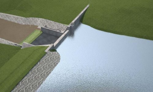 A barragem, cujo valor total alcança investimentos da ordem de R$ 54 milhões, vai beneficiar 65 mil pessoas | FOTO: Reprodução/SIHS |
