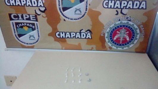 Drogas foram apreendidas com o menor | FOTO: Divulgação/Cipe-Chapada |