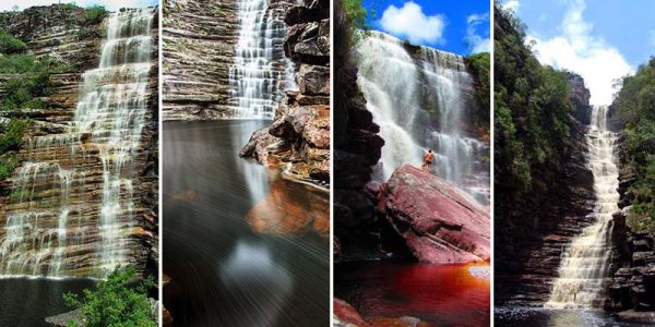 As cachoeiras da Invernada, Bom Jardim, Cristais e Três Barras, são grande riqueza histórico-cultural da Chapada Diamantina | FOTO: Montagem do JC/Reprodução/Tom Alves/Andaraí Oficial |